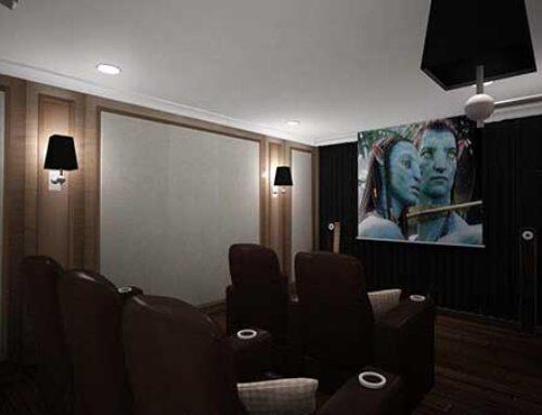 Desain dan Instalasi Home Theater Audio Video System Integration Mr. S di Karawaci